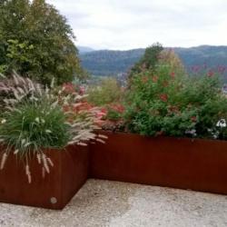 Jardinière acier corten véritable