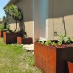 Jardiniere en acier corten sur mesure FAS