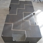Table basse metal mobilier d'art toulouse acier Haut de Gamme Toulouse