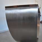 Table de bureau sur mesure, metal inox, mobilier d'art Toulouse FAS