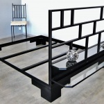 Lit sur mesure metal mobilier d'art Toulouse acier FAS