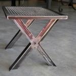 Tabouret metal mobilier d'art Toulouse FAS