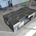 table metal mobilier d'art toulouse acier