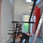 Escalier sur mesure avec palier et marche acier