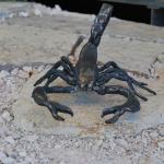 scorpion objet de décoration ferronnerie toulouse