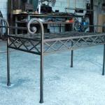 Petit mobilier d'art, Tabouret metal forgé, Mobilier d'art Toulouse FAS
