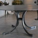 Table métal sur mesure, mobilier d'art Toulouse création en fer forgé FAS