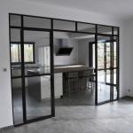Verrière design porte double acier et verre sécurisé Toulouse