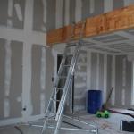 Escalier forme 1 quart tournant, métal et bois, Toulouse